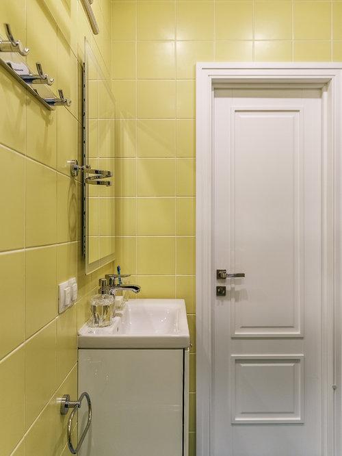 Bagno con piastrelle gialle foto idee e immagini for Stanza da pranzo contemporanea