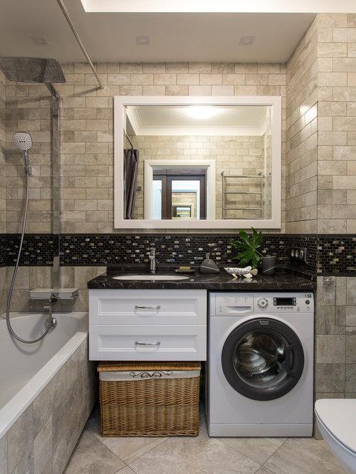 Bagno con lavatrice foto e idee houzz for Lavabo con lavatrice
