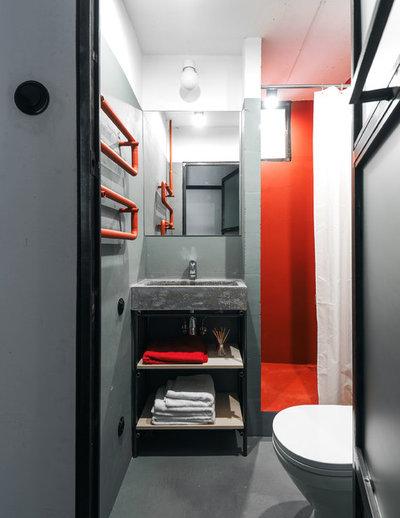 Industrial Bathroom by Line Design Studio