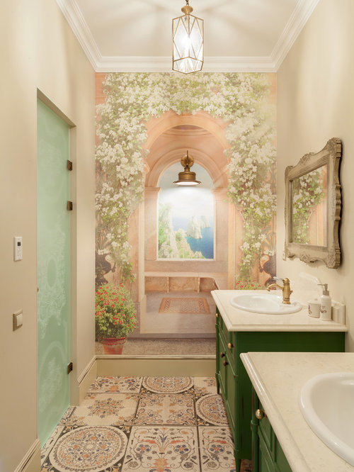Mid sized shabby chic style bathroom design ideas for Mid size bathroom ideas