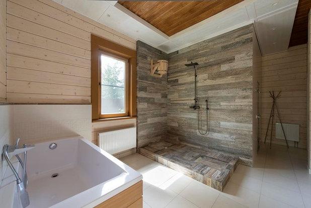 Современный Ванная комната by ВСЛ | Дома из клееного бруса