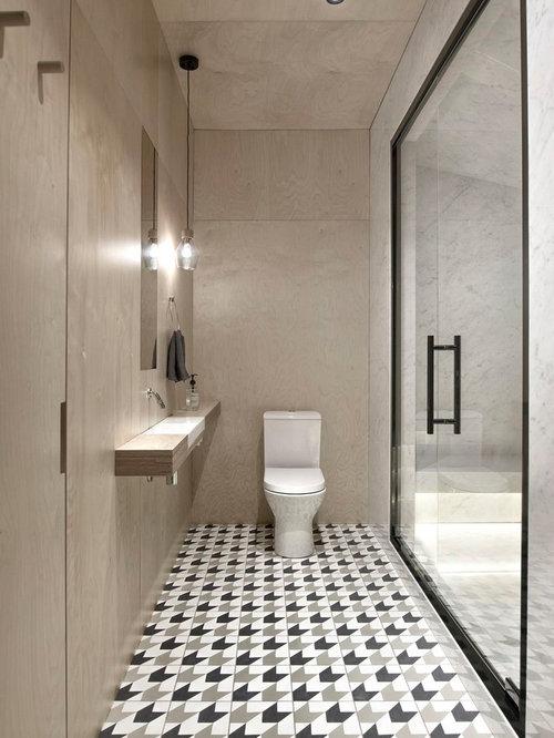 sauna contemporain avec un sol en carreaux de ciment photos et id es d co de saunas. Black Bedroom Furniture Sets. Home Design Ideas