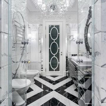 Интерьер квартиры в стиле современной классики с элементами Ар-Деко в Петербурге