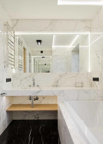 Современный Ванная комната by Architectural bureau MODUL