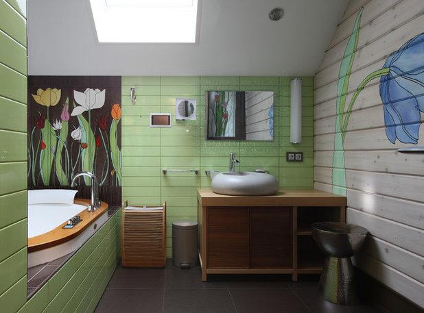 Современный Ванная комната by «Своя История» Засимова Лада , Николаева Виктория