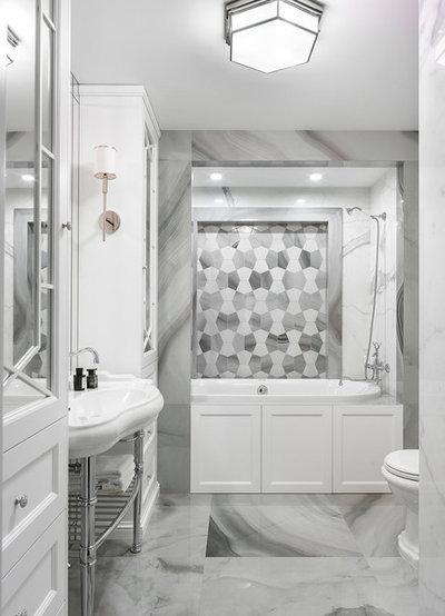 Современная классика Ванная комната by U(nik) design team