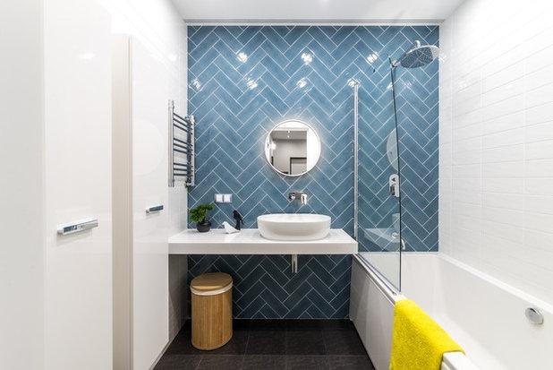 Современный Ванная комната by Михаил Новинский (MNdesign)