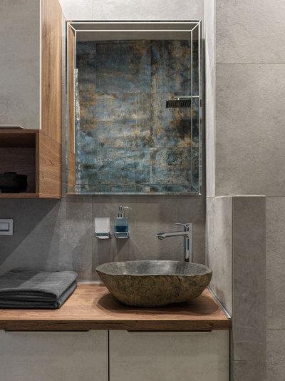 Современный Ванная комната by Юлия Тельнова