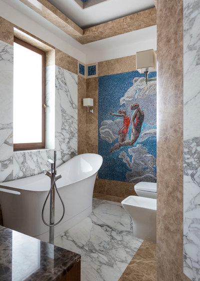 Современный Ванная комната by Мастерская дизайна Юлии Покровской и Инны Вольвак