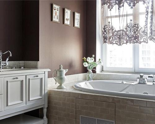 klassische badezimmer mit whirlpool design ideen. Black Bedroom Furniture Sets. Home Design Ideas