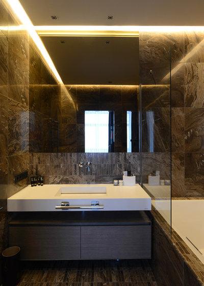 Современный Ванная комната by Dacha-buro