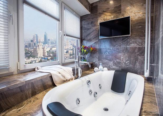 Современный Ванная комната by Мастерская дизайна интерьера Екатерины Силантьевой