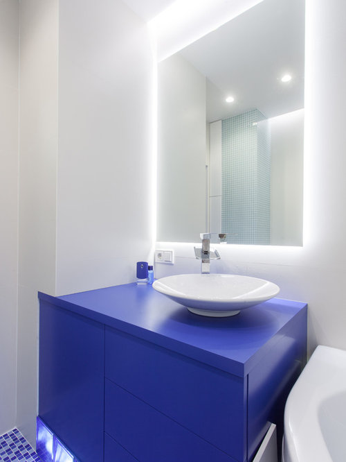 Purple bath design ideas pictures remodel decor with for Blue and purple bathroom ideas