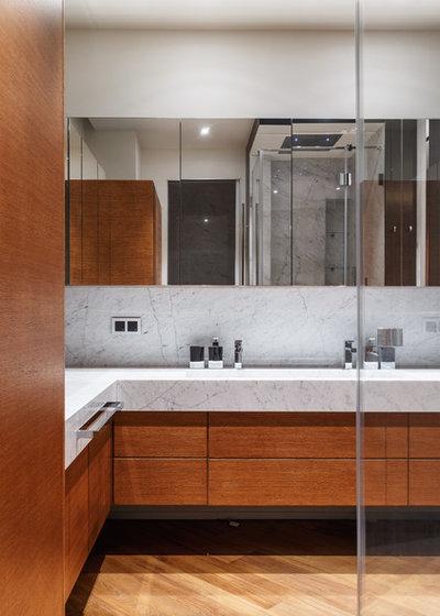 Современный Ванная комната by Artechnology