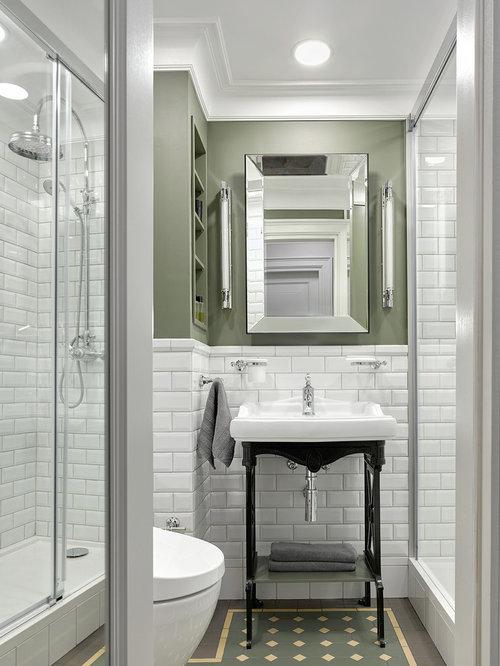 Piastrelle per bagni piccoli foto e idee houzz - Piastrelle diamantate bagno ...