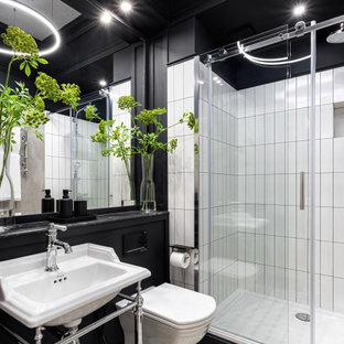 Идея дизайна: ванная комната в стиле современная классика