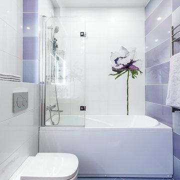 Квартира цвета ультрафиолет. Интерьер в цвете 2018 года.