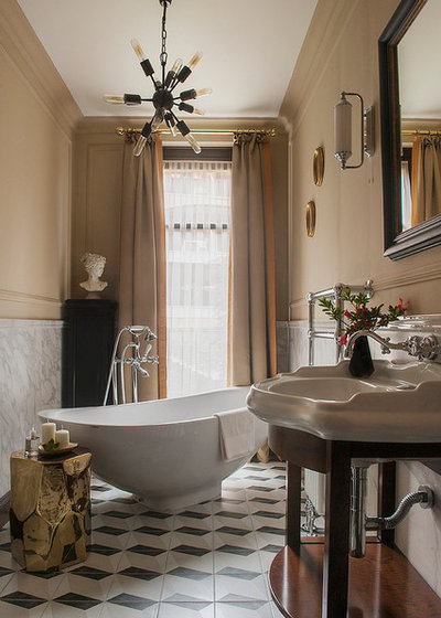 Transitional Bathroom by COUTURE INTERIORS
