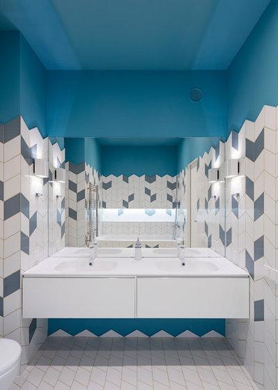 Современный Ванная комната by BURO 108