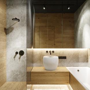 Salle de bain avec un carrelage gris Espagne : Photos et idées déco ...