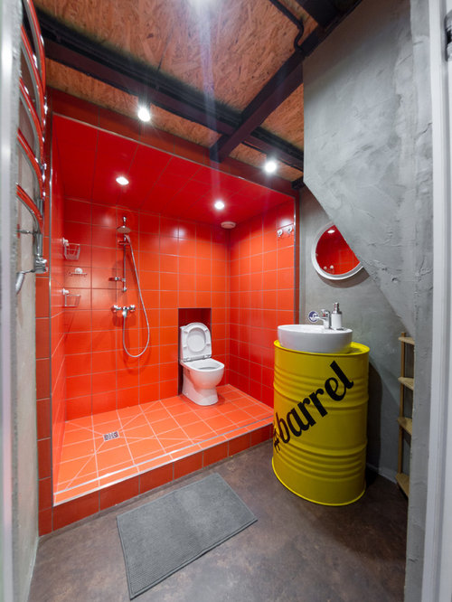 Bathroom Tiles Red bathroom with red tile ideas, designs & remodel photos | houzz