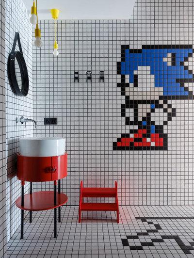 Industrial Bathroom by Architectural Studio RE