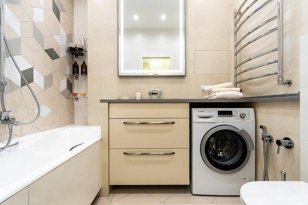 Современный Ванная комната by In/De/Art