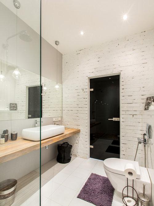industrial badezimmer mit aufsatzwaschbecken ideen beispiele f r die badgestaltung houzz. Black Bedroom Furniture Sets. Home Design Ideas