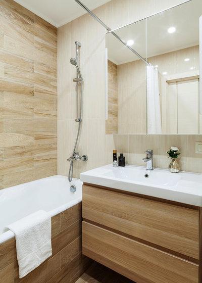 Современный Ванная комната by Мастерская дизайна интерьера Анны Першаковой