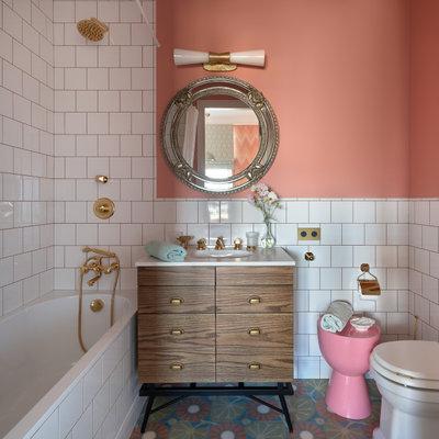 Фьюжн Ванная комната by Студия Enjoy Home