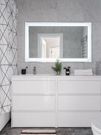 Современный Ванная комната by Екатерина Бурдина BURDDESIGN