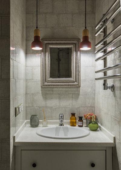 Современная классика Ванная комната Проект на Таганке