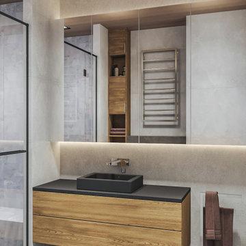 Проект современного интерьера квартиры 65 кв.м в ЖК «Маяковский» Москва