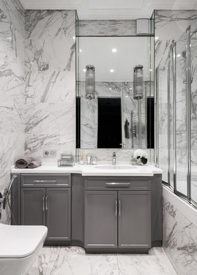 Transitional Bathroom by Ольга Рудакова