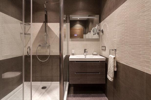 Современный Ванная комната by Flatsdesign / Евгения Матвеенко