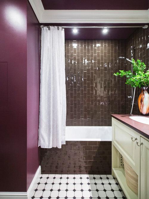 Bagni viola dettaglio immagine mobile arredo bagno modello ore matrix color viola with bagni - Piastrelle viola bagno ...