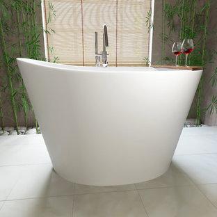 Esempio di una piccola stanza da bagno padronale etnica con vasca giapponese