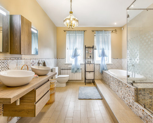 eclectic bathroom design ideas renovations photos with light