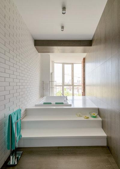 Современный Ванная комната by Alfa-Brand   Симагина Ольга