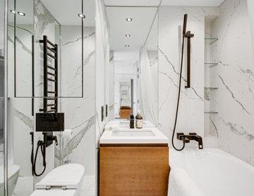 Современный Ванная комната