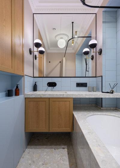 Модернизм Ванная комната by Buro 19.23
