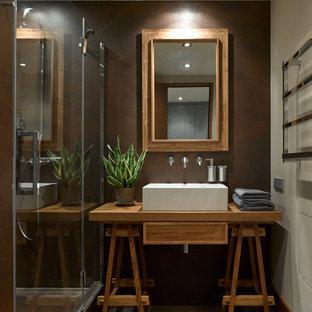 Идея дизайна: ванная комната в современном стиле