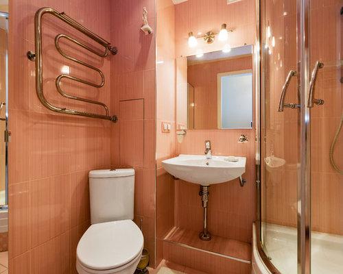 badezimmer mit rosafarbenen fliesen ideen beispiele f r. Black Bedroom Furniture Sets. Home Design Ideas
