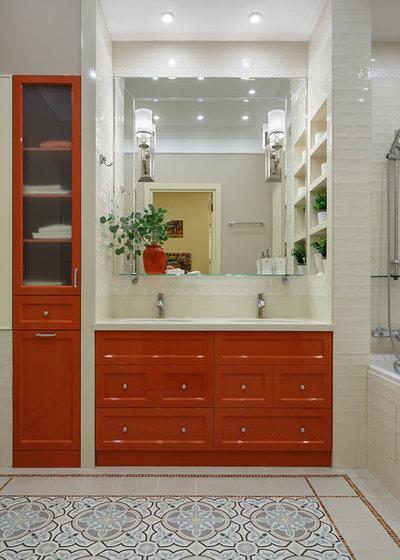 Современная классика Ванная комната by Margo Project. Дизайн интерьеров.
