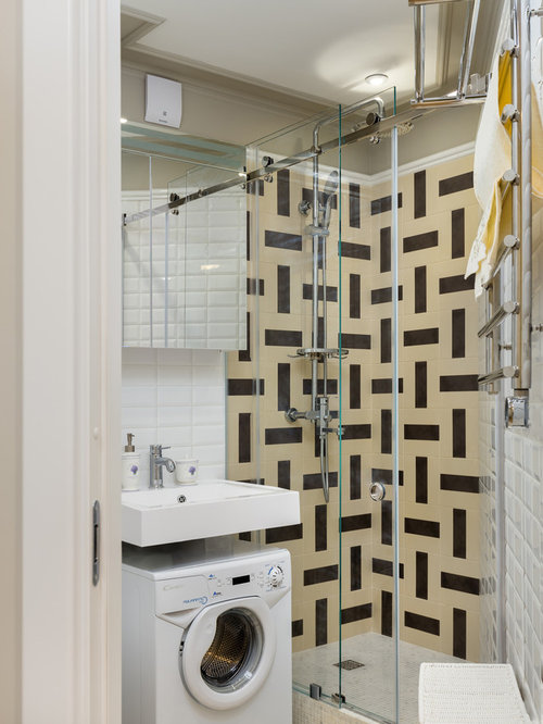 Small bathroom laundry room combo ideas houzz for 7x8 bathroom ideas