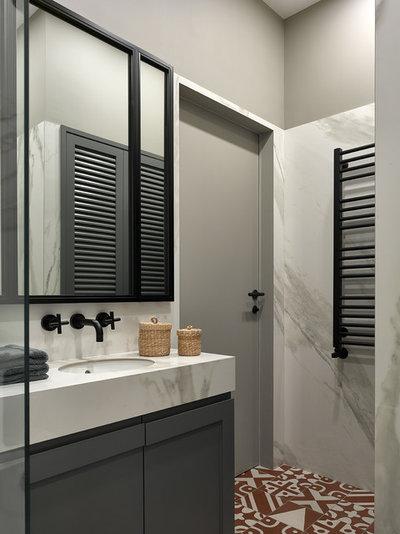 Современный Ванная комната by Aiya Design | Айя Лисова