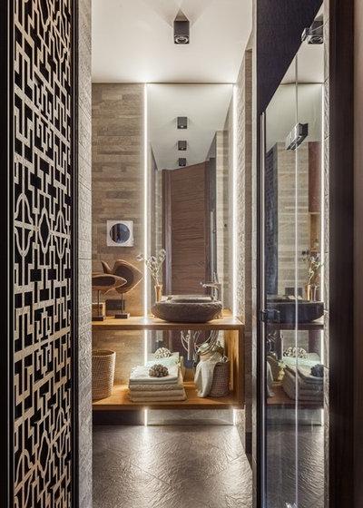 Contemporary Bathroom by OH, BOY! Интерьеры с мужским характером