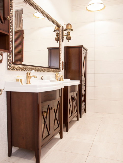 Shabby chic style bathroom design ideas renovations for Commode style shabby chic