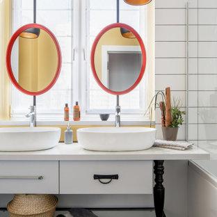 Неиссякаемый источник вдохновения для домашнего уюта: ванная комната в стиле лофт