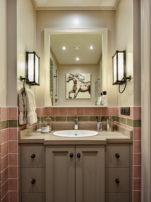 Bathroom and cloakroom design ideas renovations photos for Pink and brown bathroom ideas